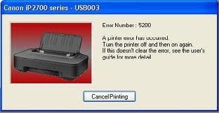 Reset Printer Cannon error