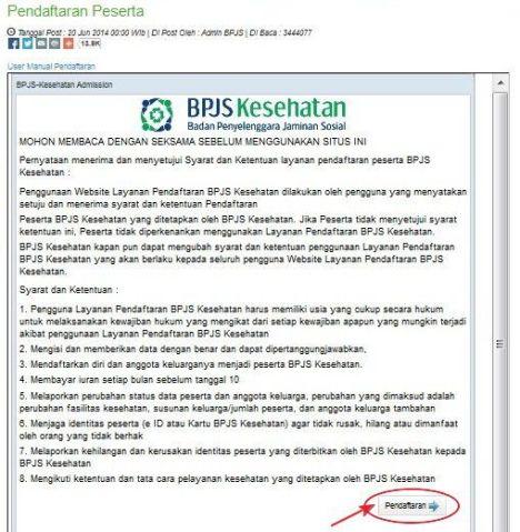 Tahap 2 : Membaca Tata Cara Pendaftaran BPJS