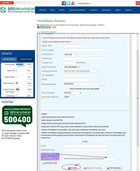 Tahap 3 : Mengisi Data BPJS