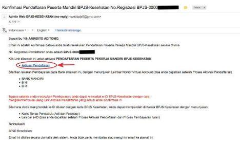 Tahap 4 : Email Konfirmasi BPJS