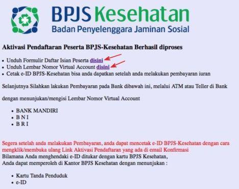 Tahap 5 : Mencetak Data dan Virtual Account BPJS